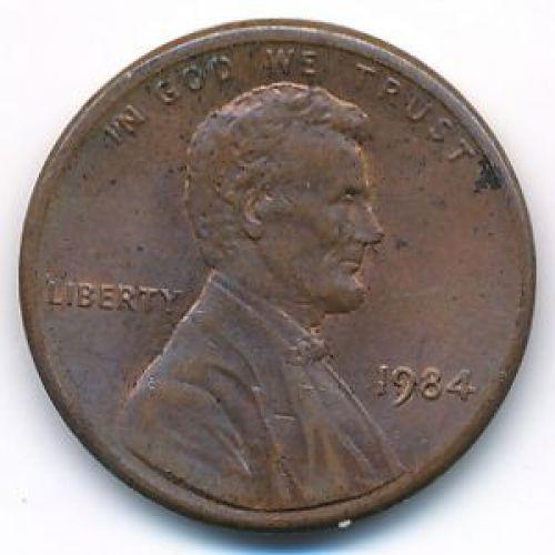 1 цент 1984 год США