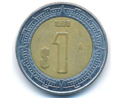 1 новый песо 1998 год Мексика