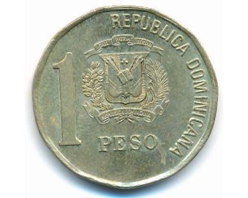 1 песо 2002 год Доминиканская Республика Хуан Пабло Дуарте Доминикана