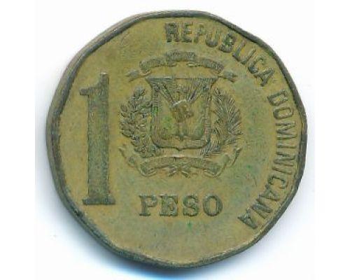 1 песо 1992 год Доминиканская Республика Хуан Пабло Дуарте Доминикана