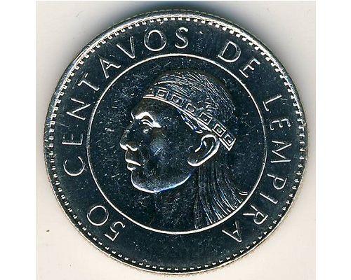 50 сентаво 1991 год Гондурас