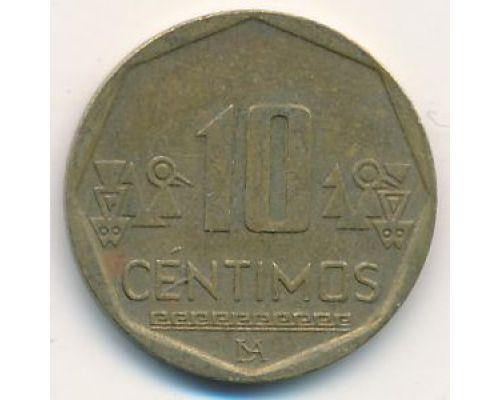 10 сентимо 2011 год Перу