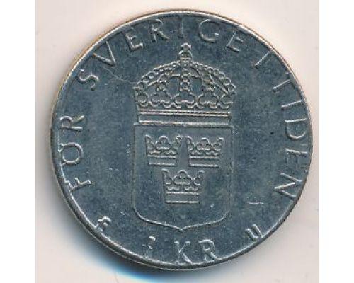 1 крона 1978 год Швеция Карл XVI Густав