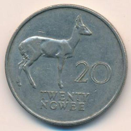 20 нгве 1968 год Замбия Антилопа