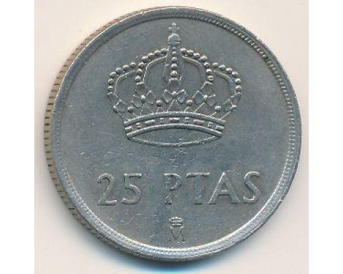 25 песет 1983 год Испания