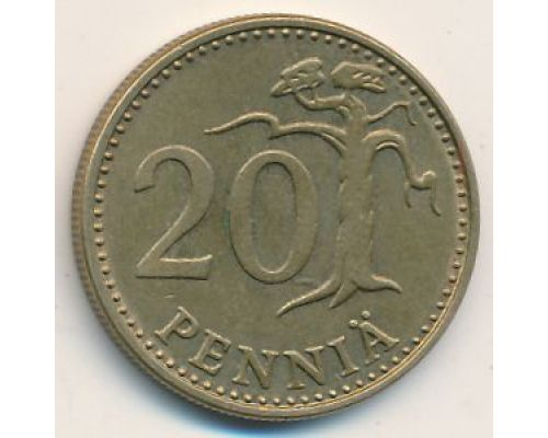 20 пенни 1975 год Финляндия