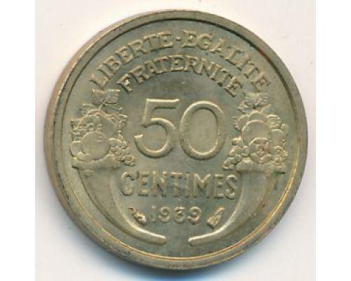 50 сентим 1939 год Франция