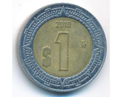 1 новый песо 2010 год Мексика