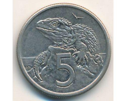 5 центов 1982 год Новая Зеландия