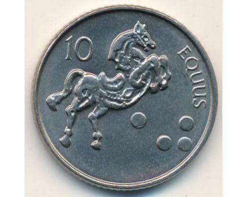 10 толаров 2000 год Словения Лошадь