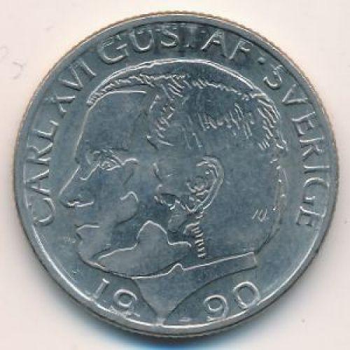 1 крона 1990 год Швеция