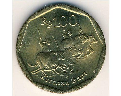 100 рупий 1992 год Индонезия