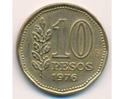 10 песо 1976 год Аргентина