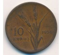 10 куруш 1958 год Турция Пшеница