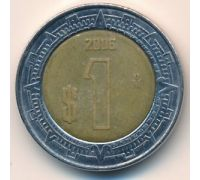 1 новый песо 2006 год Мексика