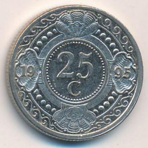 25 центов 1996 года Антильские Острова