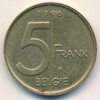 5 франков 1994–2001 год Бельгия