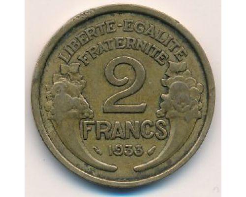 2 франка 1933 год Франция