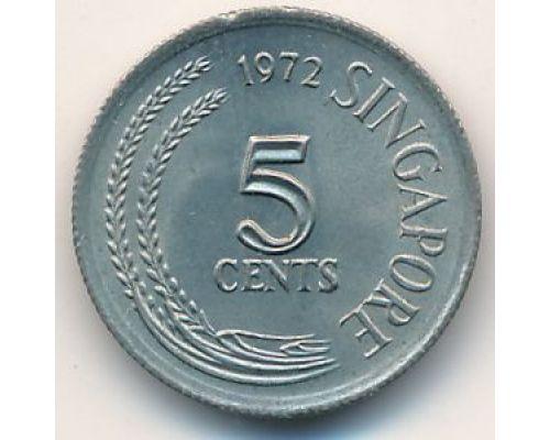 5 центов 1972 год Сингапур