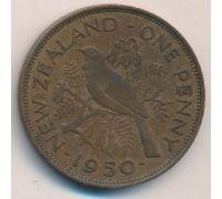 1 пенни 1950 год Новая Зеландия Георг VI