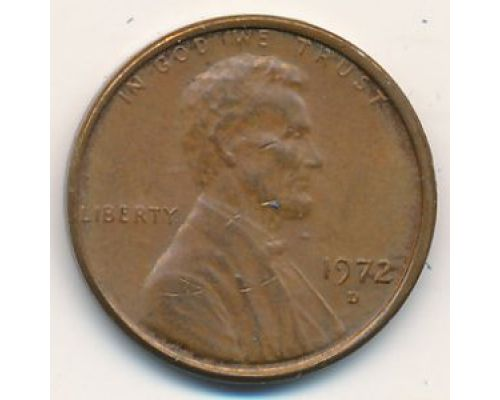 1 цент 1972 год D США