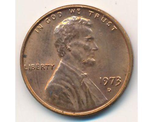 1 цент 1973 год D США