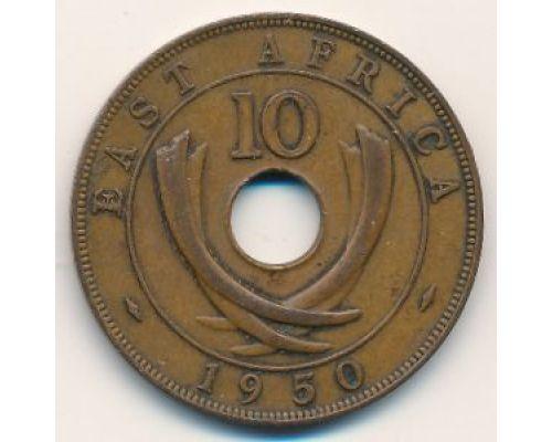 10 центов 1950 год Восточная Африка