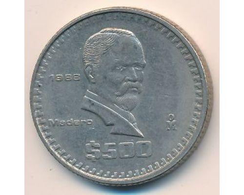 500 песо 1988 год Мексика Мадеро