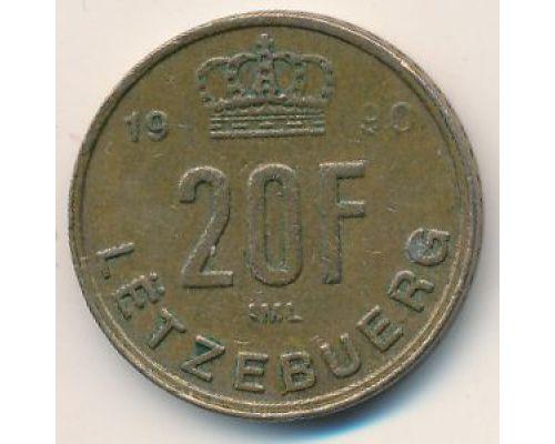 20 франков 1990 год Люксембург