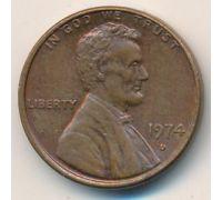 1 цент 1974 год D США