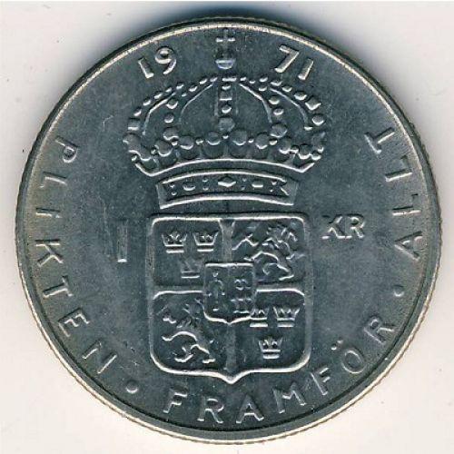 1 крона 1971 год Швеция