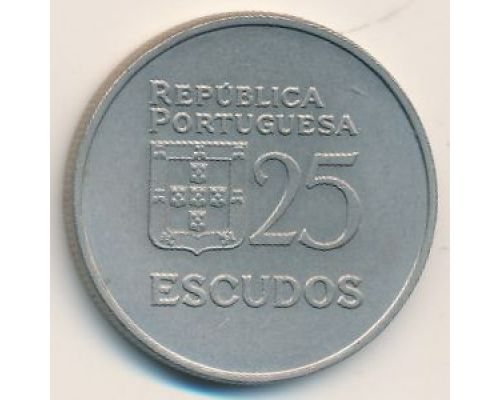 25 эскудо 1980 год Португалия
