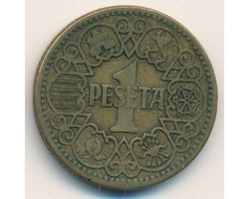1 песета 1944 год Испания