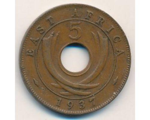 5 центов 1937 год Восточная Африка