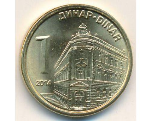 1 динар 2014 год Сербия