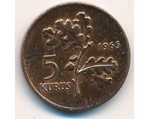 5 куруш 1965 год Турция