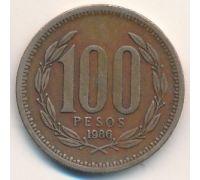 100 песо 1986 год Чили
