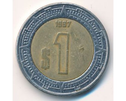 1 новый песо 1997 год Мексика