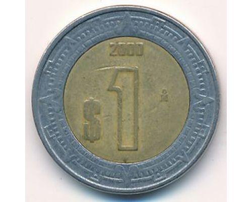 1 новый песо 2000 год Мексика