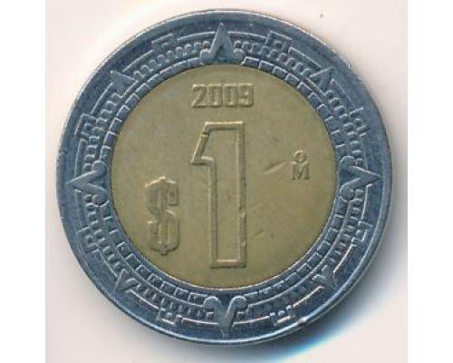 1 новый песо 2009 год Мексика