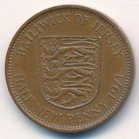 1/2 нового пенни 1971 год Великобритания Джерси