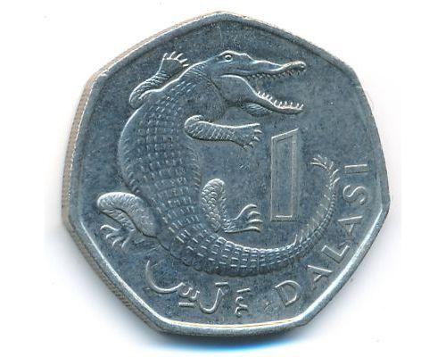 1 даласи 1998 год Гамбия крокодил