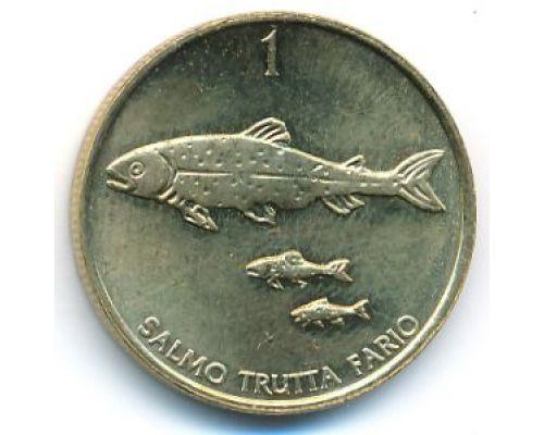 1 толар 1999 год Словения Кумжа