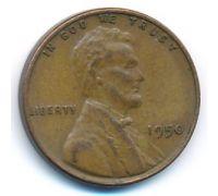 1 цент 1950 год США Пшеничный Цент