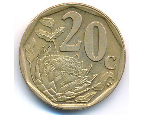 20 центов 1997 год ЮАР