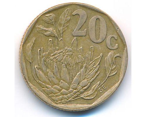 20 центов 1995 год ЮАР