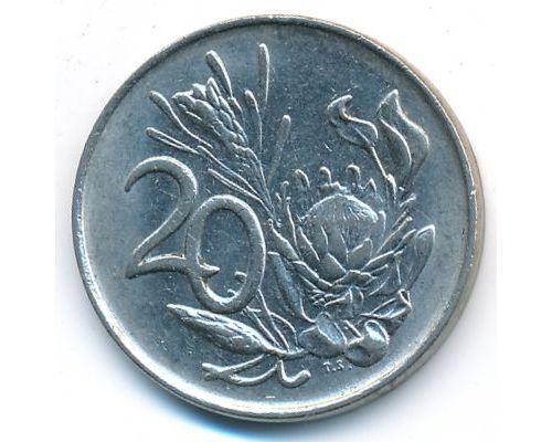 20 центов 1987 год ЮАР Протея