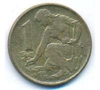 1 крона 1981 год Чехословакия