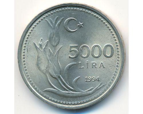 5000 лир 1994 год Турция