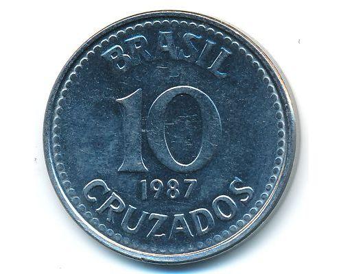10 крузадо 1987 год Бразилия